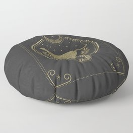 Wild Cheetah and the Moon Floor Pillow