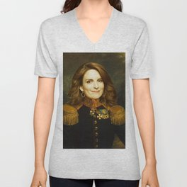 Tina Fey Classical Regal General Painting Unisex V-Neck