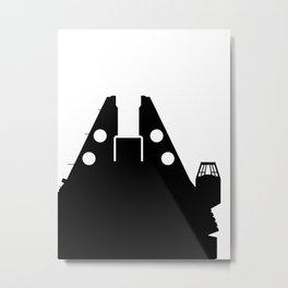 Millennium Falcon - Black Metal Print