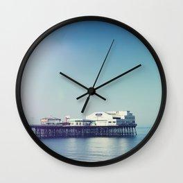 Summer pier Wall Clock
