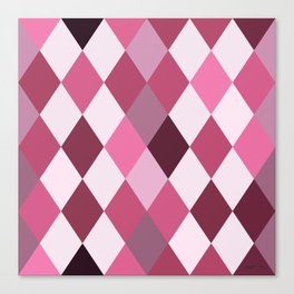 Pink Roses in Anzures 2 Harlequin 1 Canvas Print