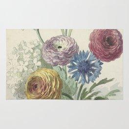Willem van Leen - Bouquet of flowers in the neck of a green vase 1763/1825 Rug