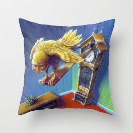 The Cuckoo Clock of Doom Throw Pillow