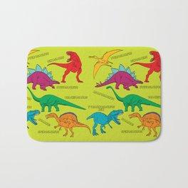 Dinosaur Print - Colors Bath Mat