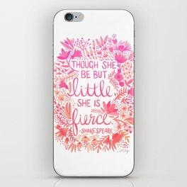 Little & Fierce – Pink Ombré iPhone Skin