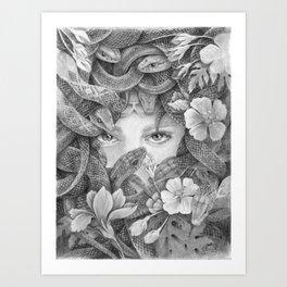 Fear of Snake Art Print