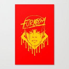 Furiosa Head Yellow Canvas Print