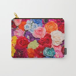 Vibrant Rainbow Flowers Carry-All Pouch