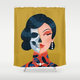 Chinese zombie woman Shower Curtain