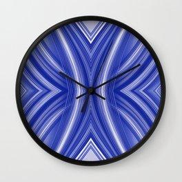 108 - indigo blue paper pattern Wall Clock