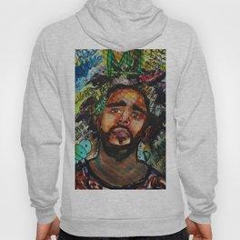 J cole,kod,album,music,rap,cole world,hiphop,rapper,masculine,cool,fan art,wall art,portrait,paint Hoody