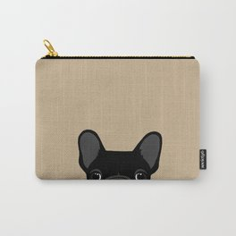 French Bulldog - Black on Tan Carry-All Pouch