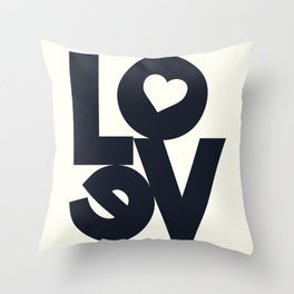 Love, tyopgraphy illustration, gift for her, people in love, be my Valentine, Romantic lettering Throw Pillow