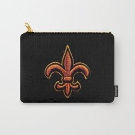 Saint's Fleur de Lis Carry-All Pouch