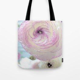 WHITE RANUNCULUS FLOWER Tote Bag