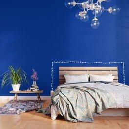 Royal azure - solid color Wallpaper