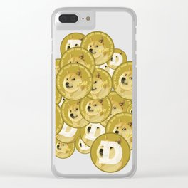 Such coins, so much dogecoins Clear iPhone Case