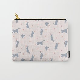 Polka Dot Cats Carry-All Pouch