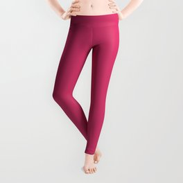 Raspberry Sorbet Color Accent Leggings