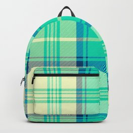 Turquoise Tartan Backpack