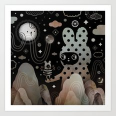 Nighty Night Art Print