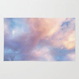 Sunset | Pink Clouds | Sky | Rainbow | Unicorn Colours | Nature Rug