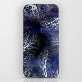 Abstract Midnight Trees iPhone Skin