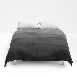 Monochrome waves Abstract modern art Comforters