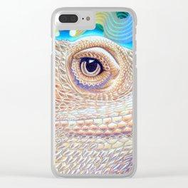 Dragon Star, Bearded Dragon Lizard Art Clear iPhone Case