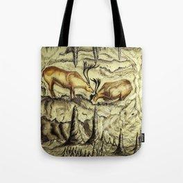 Rock Shelter Reindeer  Tote Bag