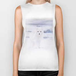 Artic Fox Eyes Biker Tank