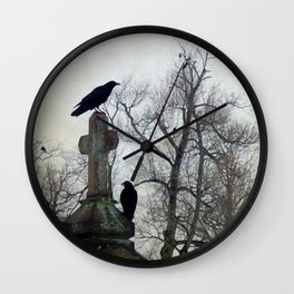 A Gathring Of Crows Wall Clock