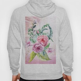 Flowers and leaves in soft purple colors Hoody