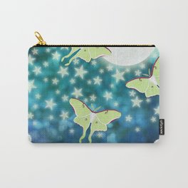 the moon, stars, luna moths, & dandelions Carry-All Pouch