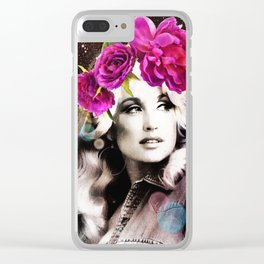 Holy Dolly (dolly parton) Clear iPhone Case