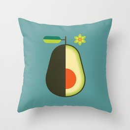 Fruit: Avocado Throw Pillow