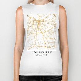 LOUISVILLE KENTUCKY CITY STREET MAP ART Biker Tank