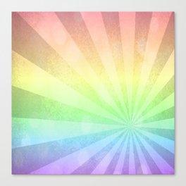 Rainbow Rays Canvas Print