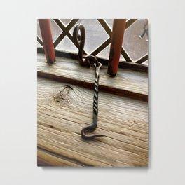 Hooked Metal Print