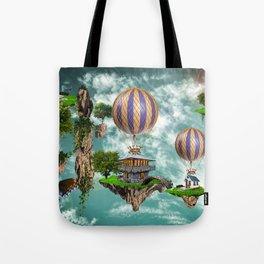 Balloon House Tote Bag
