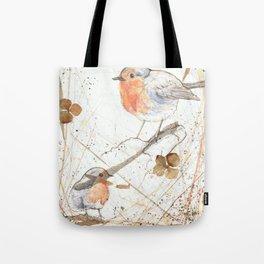 Kleine rote Vögelchen (Little red birdies) Tote Bag