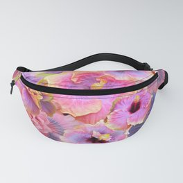 Tropical hibiscus patterns Flower Floral Flowers Fanny Pack