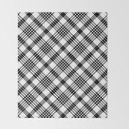 Black and White Plaid Pattern Throw Blanket