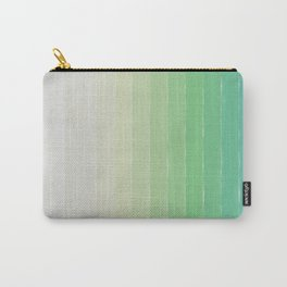 Shades of Ocean Water - Abstract Geometric Line Gradient Pattern between See Green and White Carry-All Pouch