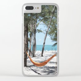 Relaxation in a hammock Clear iPhone Case