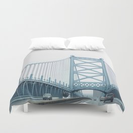 The Ben Franklin Bridge Duvet Cover