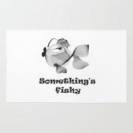 Cute funny fish Rug