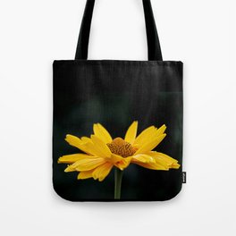 Bright Yellow And Black Tote Bag