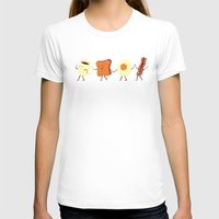 be happy T-shirts featuring Let's All Go And Have Breakfast by Teo Zirinis
