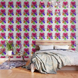 """Keith Haring inspired """"I Love Art"""" Secondary Colors edition Wallpaper"""